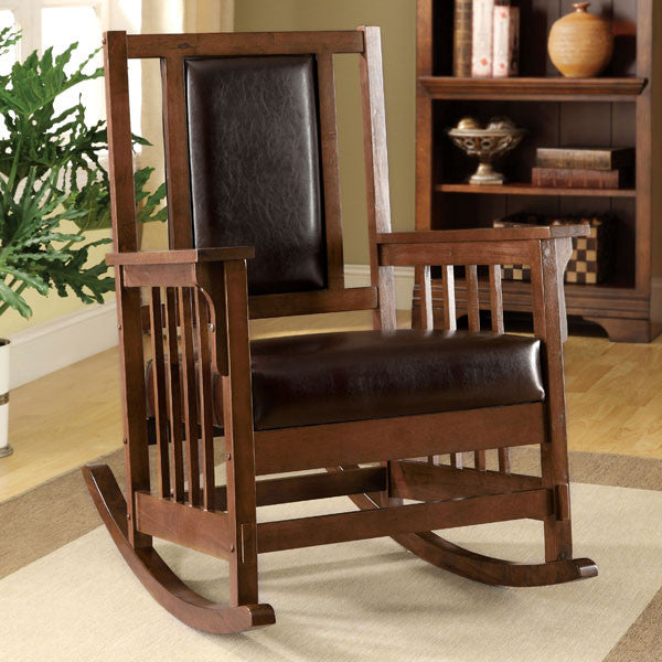 Maxson Mission Style Brown Cherry Rocking Chair