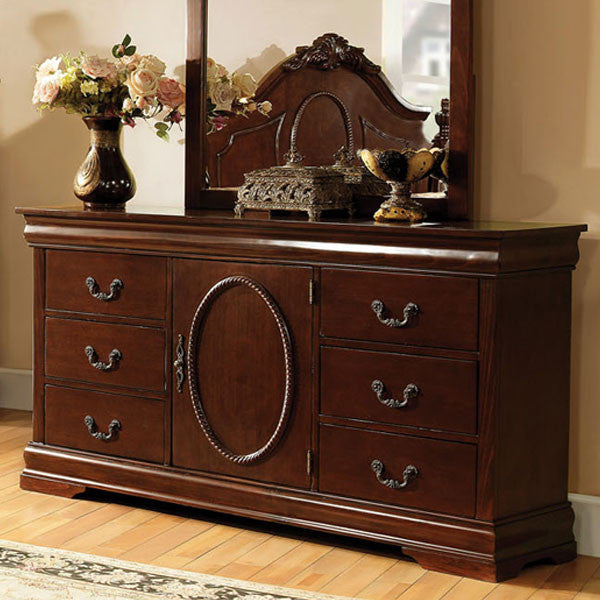 Velda English Style Warm Cherry Finish Bedroom Dresser