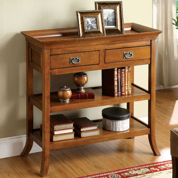 Wickenburg Country Rustic Antique Oak Finish Console Table