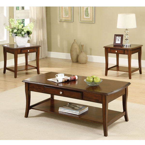 oak living room tables. Brookston Classic Style Dark Oak Coffee and End Table Set  24 7