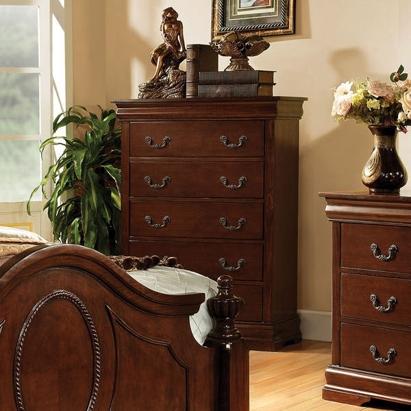 Velda English Style Warm Cherry Finish Bedroom Chest
