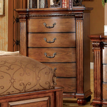 Bellagrand English Style Antique Tobacco Oak Finish Bedroom Chest