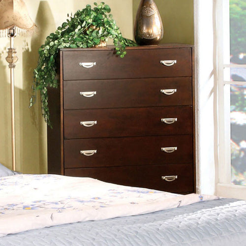 Crystal Lake Cottage Style Brown Cherry Finish Bedroom Chest