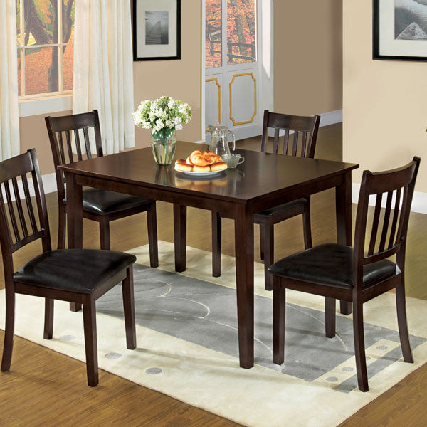 Midtown Espresso Mission Style 5-Piece Dining Set