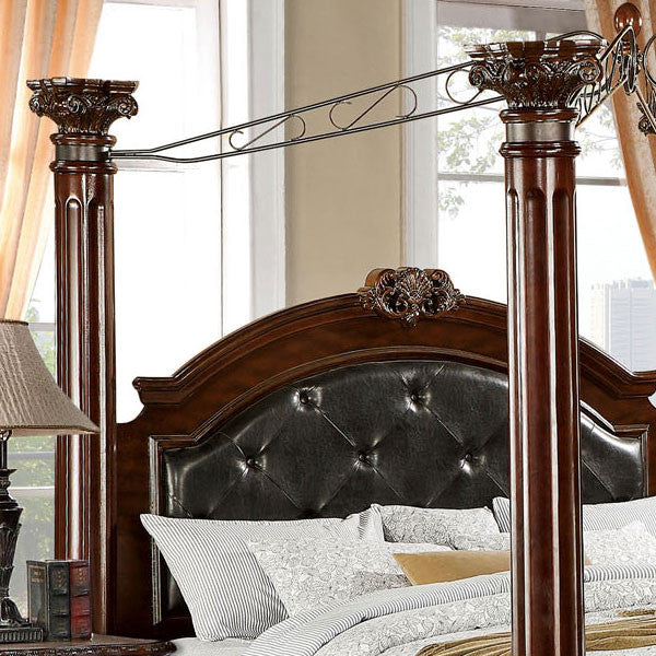 ... Mandalay Baroque Style Brown Cherry Finish 6 Piece Bedroom Set ...