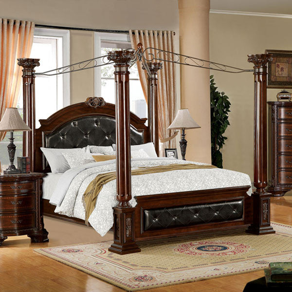 Mandalay Baroque Style Brown Cherry Finish 6 Piece Bedroom Set U2013 24/7 Shop  At Home