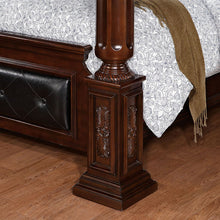 Mandalay Antique Baroque Style Brown Cherry Bed