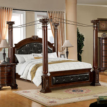 Mandalay Antique Baroque Style Brown Cherry Finish Bed Frame Set