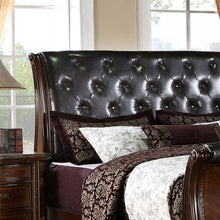 South Yorkshire Baroque Style Brown Cherry Finish Bed Frame Set