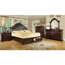 Scottsdale Baroque Style Brown Cherry Finish 6-Piece Bedroom Set