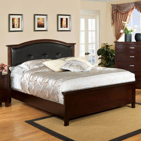 Crest View Cottage Style Brown Cherry Bed