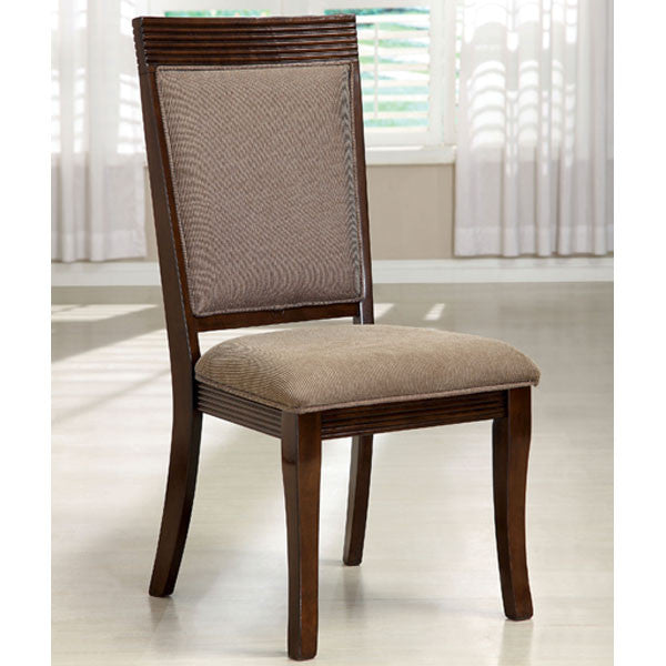 Woodmont Walnut Finish Fabric Padded Dining Chair