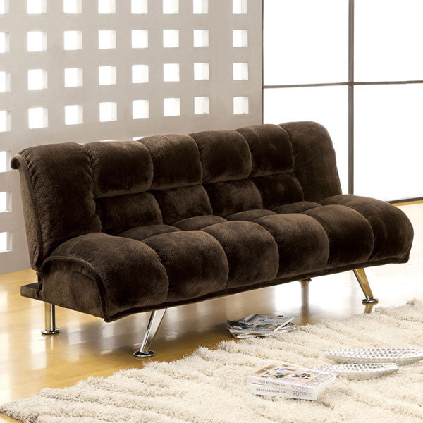 Marbelle Espresso Fabric Finish Sofa Futon Set