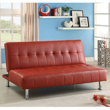 Bulle Contemporary Leatherette Sofa Futon Set