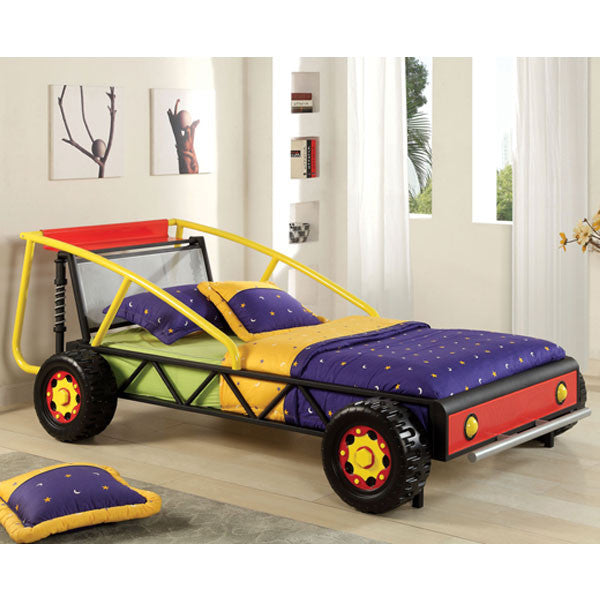 Metal Racing Car Twin Size Youth Bed