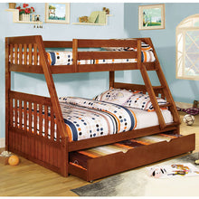 Canberra Mission Style Twin over Full Size Bunk Bed with Trundle