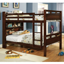 Fairfield Dark Walnut Finish Dual Twin Size Bunk Bed