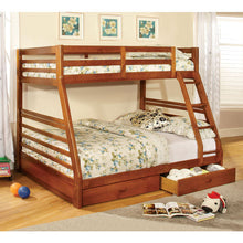 California Cottage Style Twin over Full Size Bunk Bed