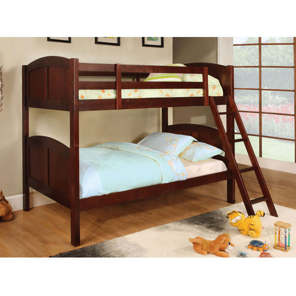 Rexford Classic Style Dual Twin Size Bunk Bed