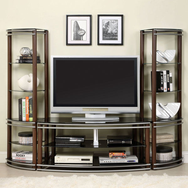 Silver Creek Brown Contemporary 52-inch Media Center Set