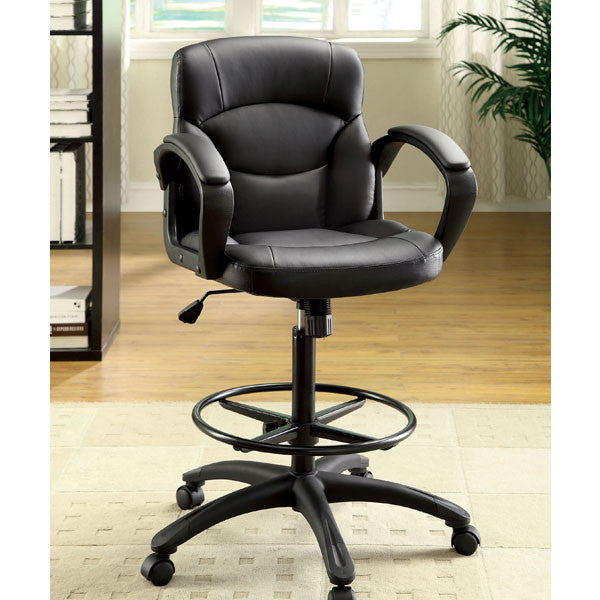 Belleville Black Leatherette Finish Adjustable Seat Office Chair