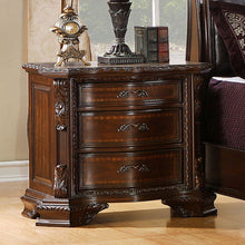 Bellefonte Baroque Style Brown Cherry Finish 6-Piece Bedroom Set