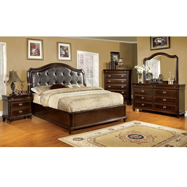 Chatham Transitional Brown Cherry 6-Piece Bedroom Set