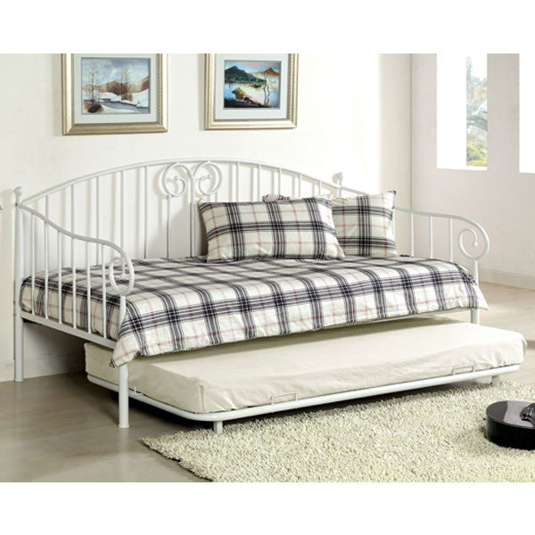 Hamden Traditional Metal Daybed with Trundle