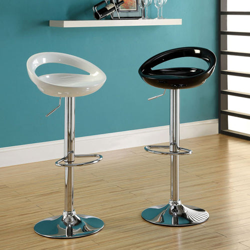 Popcap Contemporary Glassy Finish Adjustable Swivel Bar Stool (Set of 2)