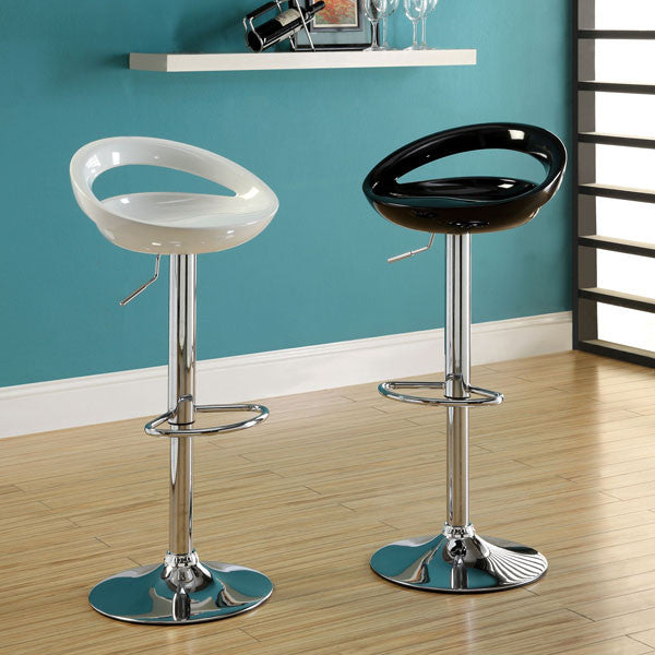Popcap Contemporary Glossy Adjustable Swivel Bar Stool (Set of 2)