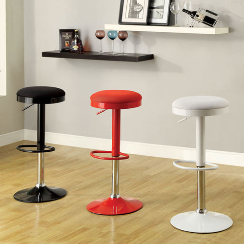 Barbz Contemporary Mesh Finish Adjustable Swivel Bar Stool (Set of 2)