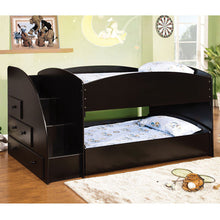 Deco Funtional Duo Twin Size Bunk Bed With Side Storage Drawers