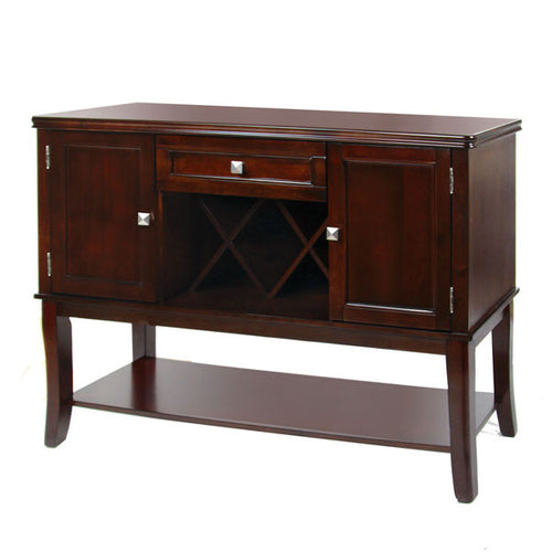 Edgewood Traditional Style Espresso Finish Buffet Server Cabinet