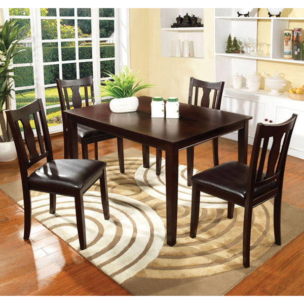 Northvale Traditional Espresso 5-Piece Dining Set