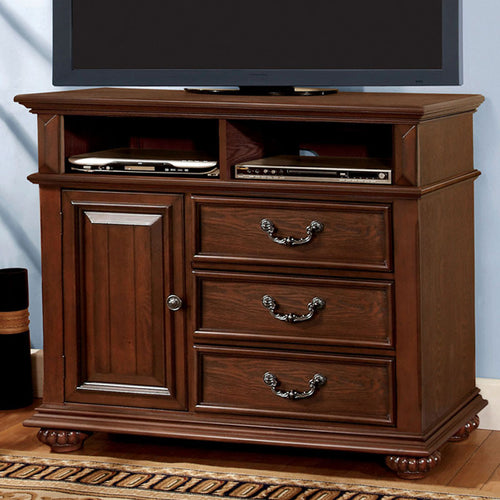 Landaluce Transitional Style Antique Dark Oak Finish Bedroom Media Chest
