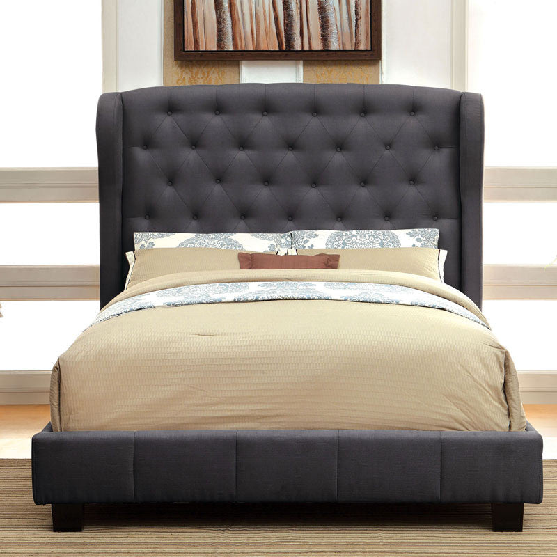 Barrett Contemporary Style Charcoal Bed
