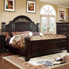 Syracuse Transitional Dark Walnut Bed
