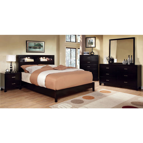 Estelle Contemporary Bookcase Headboard 6-Piece Bedroom Set