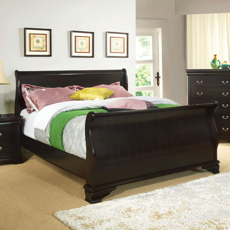 Laurelle Classic Cottage Style Espresso Bed