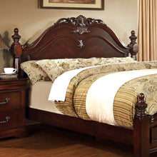 Mandura English Style Cherry Finish Bed Frame Set