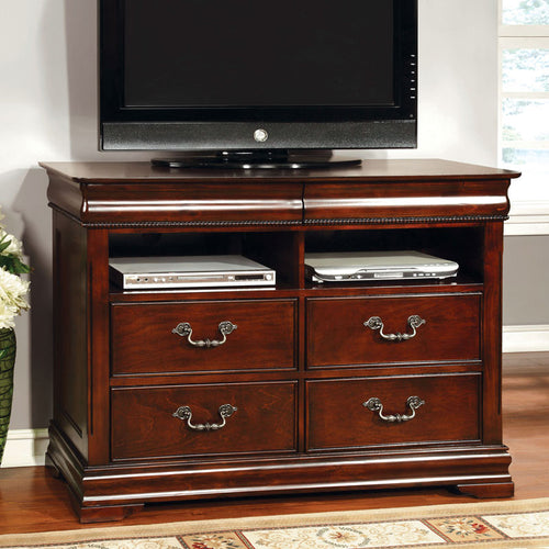 Mandura English Style Cherry Finish Bedroom Media Chest