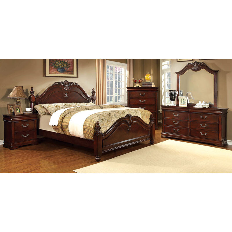 Mandura English Style Cherry 6-Piece Bedroom Set
