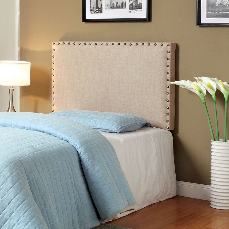 Herstal Contemporary Style Flax Fabric Finish Headboard