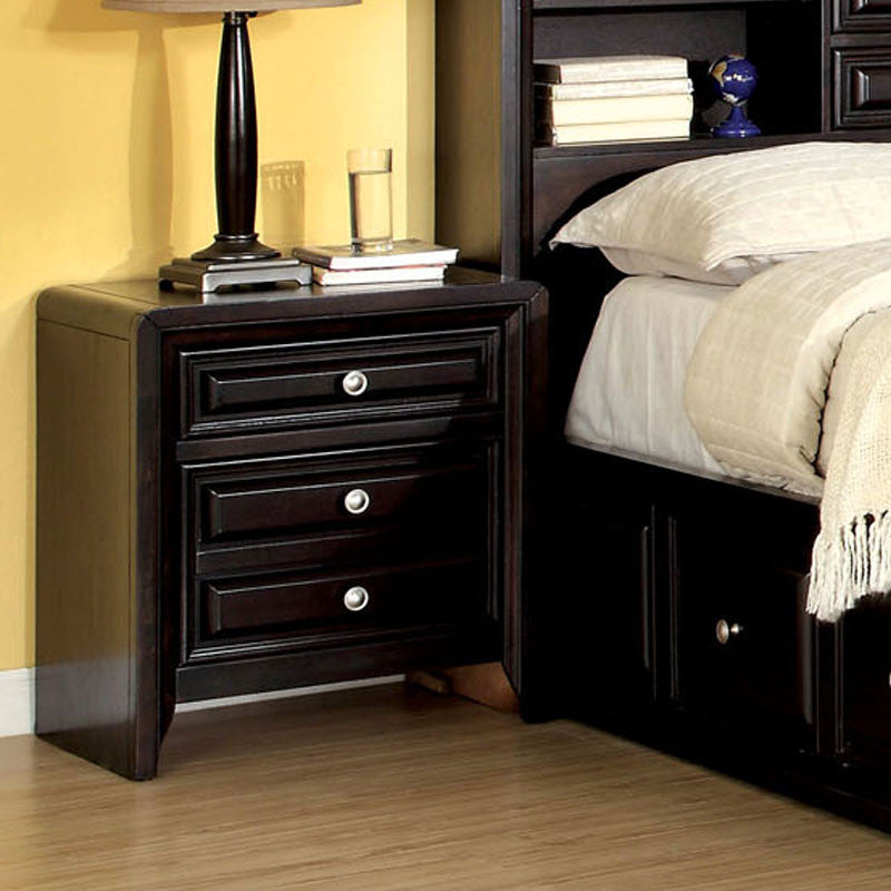 Transitional Style Bedroom Furniture: Yorkville Transitional Style Espresso Finish 6-Piece