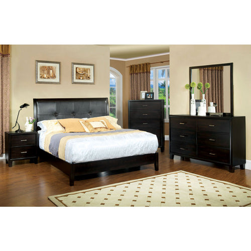 Enrico Transitional Cottage Style Espresso 6-Piece Bedroom Set