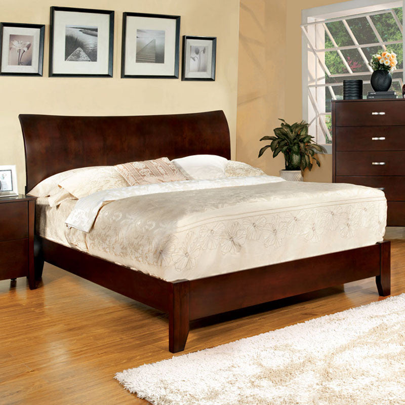 Midland Contemporary Brown Cherry Bed