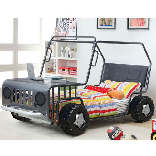 Metal Rover Inspired Twin Size Youth Bed