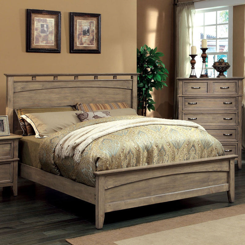 Loreta Transitional Bleach Oak Bed – 24/7 Shop At Home