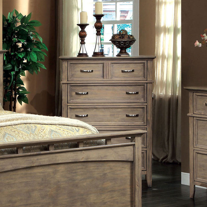 Loxley Transitional Style Bleach Oak Finish Bedroom Chest