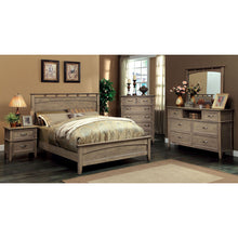Loreta Transitional Bleach Oak 6-Piece Bedroom Set